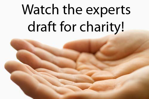 Follow along as Fantasy Football experts draft for charity